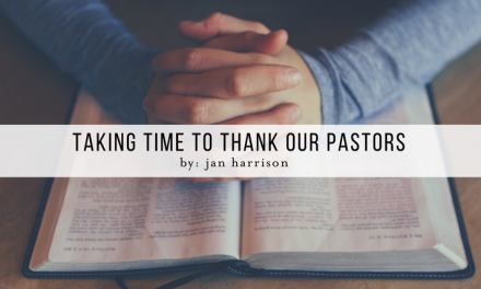 Taking Time to Thank Our Pastors